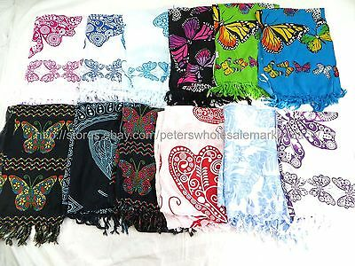 US Seller- 10 sarongs butterflies lungi dhoti sarong shawl