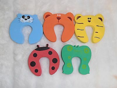 Baby Safety ~ Door Stoppers ~ Finger Protectors ~ Pack of 5 ~ New