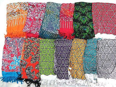 US SELLER- 10 women's swimwear sarongs Hawaii tropical island flower