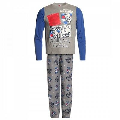 Western Bulldogs Official AFL Winter Youth L/S Pyjama Set