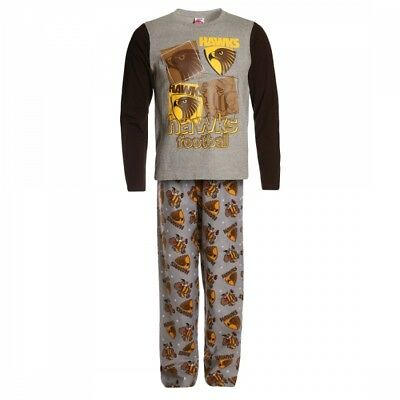 Hawthorn Hawks Official AFL Winter Youth L/S Pyjama Set