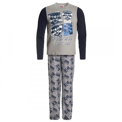 Geelong Cats Official AFL Winter Youth L/S Pyjama Set
