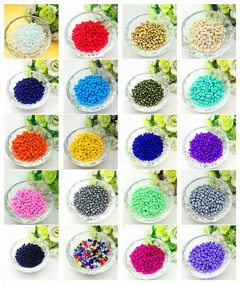 DIY Jewelry Making DIY 200 pcs 4mm Czech Glass Seed Beads Crafts 20 Cplors Pick