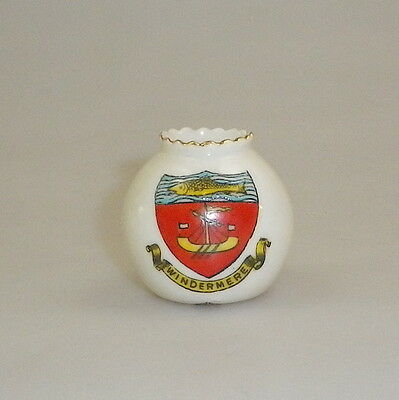 Vintage English Crested Souvenir Miniature Windermere