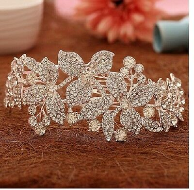 stunning silver crystal hair comb wedding accessories bridal jewelry rhinestone
