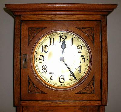 "Antique Vtg C 1900-1920s Friedrich Mauthe Oak Carved Case 82"" Grandfather Clock"