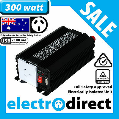 300W (600 watt max) Power Inverter 12-240V M Sine Wave Laptop Charger Car Boat