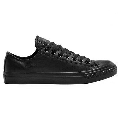 Converse CHUCK TAYLOR ALL STAR LEATHER LOW CASUAL UNISEX SHOES,BLACK-US4,5,6 Or8
