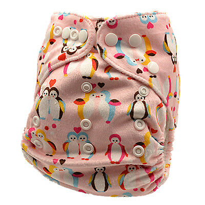 Cute Girly Reusable Modern Baby Cloth Nappies With Insert All Size Diapers (M80)