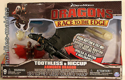 Spin Master Dragons Toothless & Hiccup Ohnezahn & Hicks Armored Dragon NEU/OVP