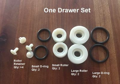 roller set for steelcase tanker desk drawer