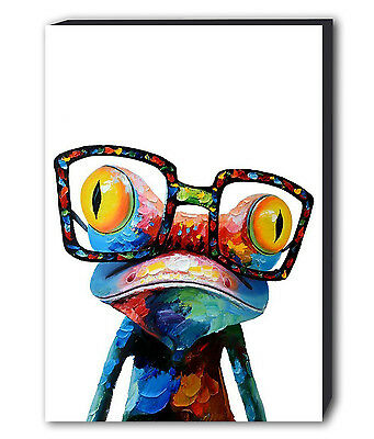 Frog Abstract Colour Canvas Wall Art - Various Sizes