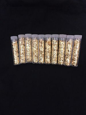 NEW LOT OF TEN (10) Gold Leaf Loose Flakes Scrap Bullion Yellow Gold :