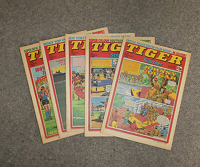 TIGER & SCORCHER COMICS x 5  -1980  - (G3642C)