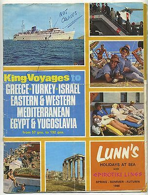 Vintage King Voyages Cruise Brochure (1966) Lunn's Holidays at Sea, Epirotiki