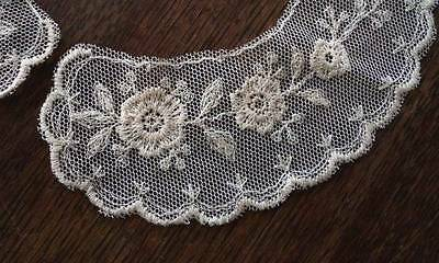 Lot 0f 6 Embroidered Net Lace Collars Doll Dressing Applique Trim 12 Pieces