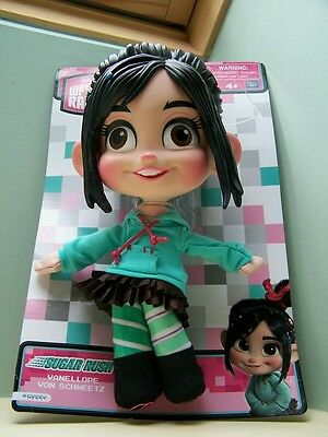 New Wreck it Ralph Vanellope Von Schweetz Plush Buddy Doll Sugar Rush Disney 11""