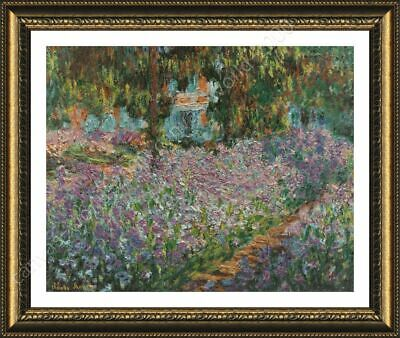 Irises by Claude Monet | Framed canvas | Wall art oil painting giclee artwork