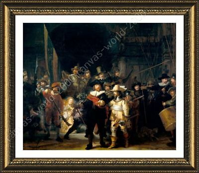 The Nightwatch by Rembrandt | Framed canvas | Wall art giclee HD poster paint
