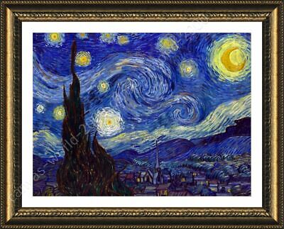 Starry Night by Vincent Van Gogh | Framed canvas | Wall art painting HD poster