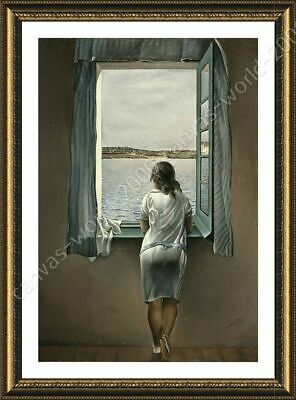 Woman At The Window by Salvador Dali   Framed canvas   Wall art painting print