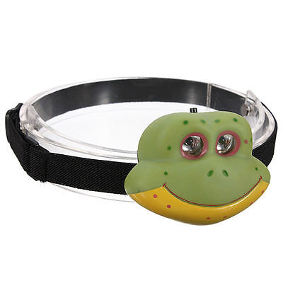 A900 Child's Children Kid Novelty Animal Flash LED Head Light Torch Frog