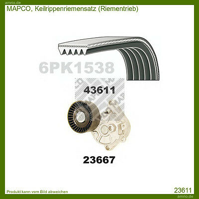 23611 Mapco V-Ribbed Belt Set