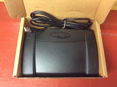 Infinity In-Usb-2 Foot Pedal For Dictation Transcription - Perfect!