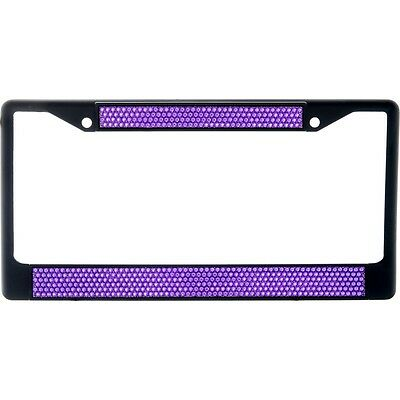 Ombre Bling license plate frame holographic black purple crystal glitter screw