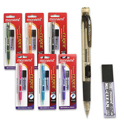 2XAutomatic mechanical pencil refill color lead school stationery 0.5mm//0.7mTPCA