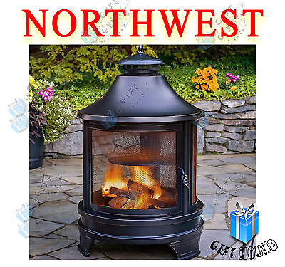 Northwest Sourcing Outdoor Cooking Pit Barbecue BBQ Garden Fire Chimenea Heater