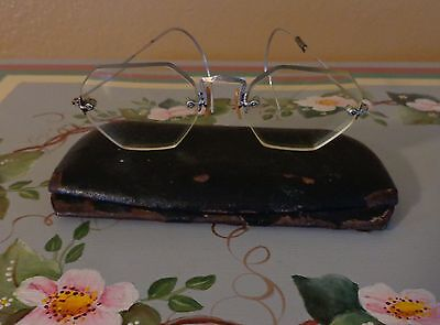 Vintage B&L Bausch Lomb Spectacles Eye Glasses 12K Gold Filled W/Case