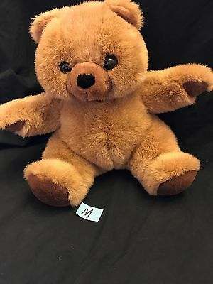 """Dex Baby Plush Brown Tan TEDDY BEAR 13"""" Heartbeat Womb Sound Crib Soother Toy"""