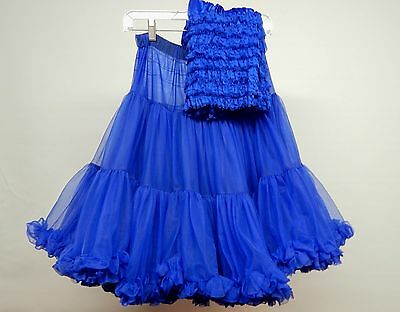 Royal Blue Soft And Fluffy Square Dance Petticoat And Pettipants