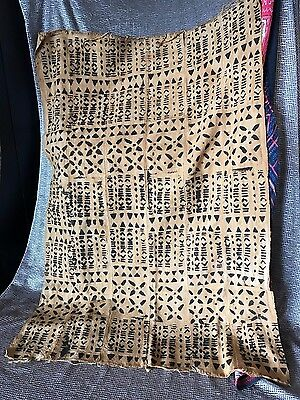 Old African Hand Woven & Hand Painted Material …beautiful Collection piece