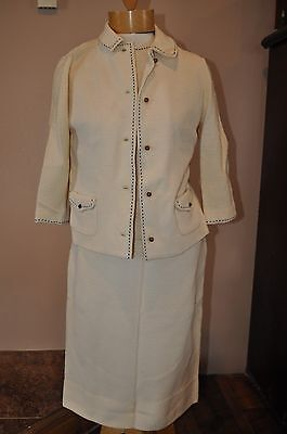 Vintage BUTTE KNIT Wool Cordinated Suit Jacket, Top & Skirt