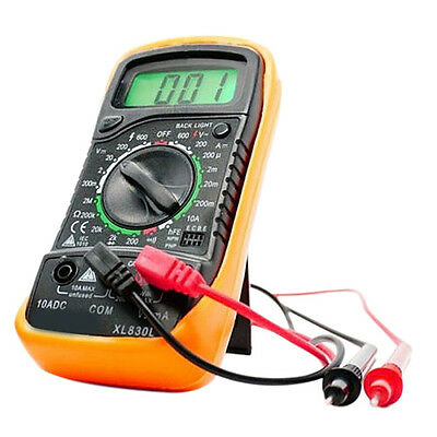 EXCEL Digital Multimeter XL830L Volt Meter Ammeter Ohmmeter Tester Yellow 2017