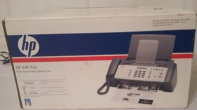 HP 640 Fax Plain Paper Inkject Fax Machine Printer (BRAND NEW IN OPENED BOX!)
