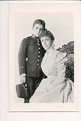 Photo Card Maria Christina of Austria Queen of Spain & King Alphonso XIII
