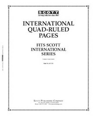 Scott Blank Quadrille Pages with International Border
