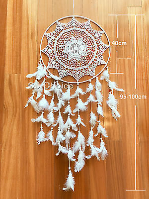 XLARGE 100CM Dream Catcher Feather Home Wall Hanging Room Decoration Ornament B