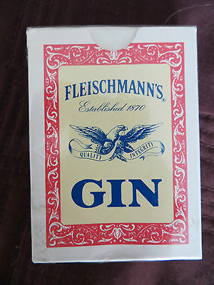 Fleischmann's Gin playing cards unopened Glenmore Distilleries Co Louisville KY