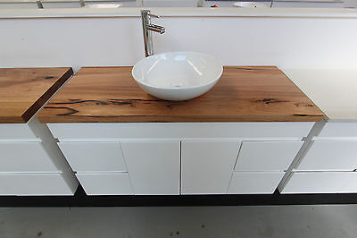 Nevada 1200 Wall Hung Vanity 40mm Wormy Chestnut Timber Bench Top