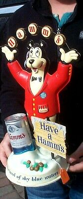 Vintage 1960's Hamms Beer Bartender Bear Sign  Wildlife Cabin Nice Shape!