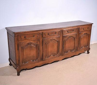 *Antique French Provincial Sideboard/Buffet In Solid Oak