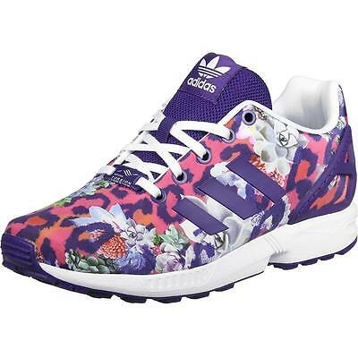 d76f260d2bfd ADIDAS ORIGINALS ZX Flux Youth Cheetah Print Purple Textile Trainers ...