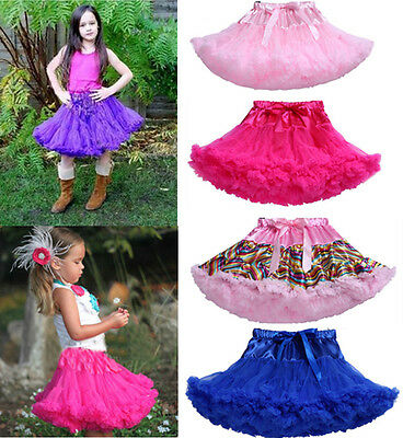 Girls Babys Kids Dancewear Fluffy Pettiskirt Tutu Princess Skirt Party Dress