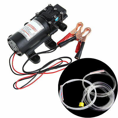 12V 60W Electric Extractor Pump Transfer Oil Fluid Diesel Siphon Car Motorbike