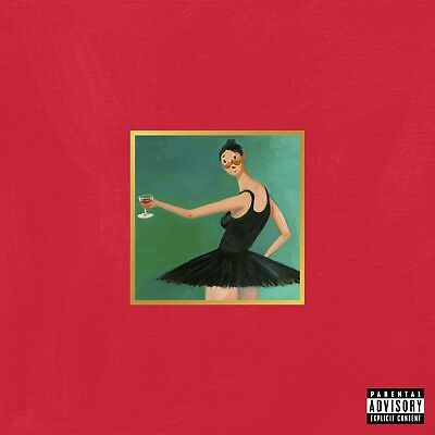 """Kanye West My Beautiful Dark Twisted Fantasy Art Cover Poster 20×20 24×24 32×32"""""""