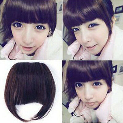 Girl's Fashion Clip On Neat Bang Straight Fringe Bob Hair Style
